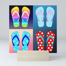 Flip Flop Pop Art Mini Art Print
