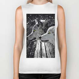 WOLF OF THE NIGHT FOREST Biker Tank