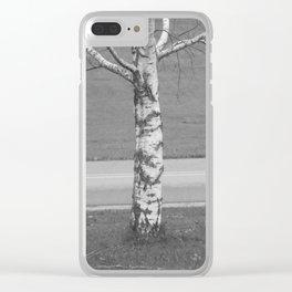 Birch Tree 2 Clear iPhone Case