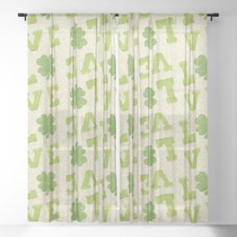 St. Patricks Day Pattern Sheer Curtain