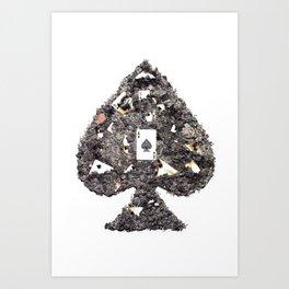 Death's Ace (without symbols) Art Print