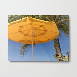 Cold Coconut Water Metal Print