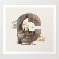 Resort Type - Letter C Art Print