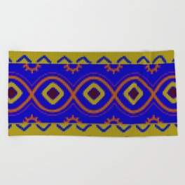 Ethnic African Knitted style design Beach Towel