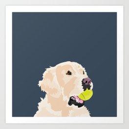 Golden Retriever with tennis ball Kunstdrucke
