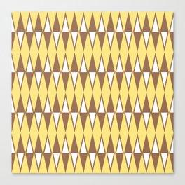 Mid Century Modern Diamond Pattern Brown Yellow 231 Canvas Print