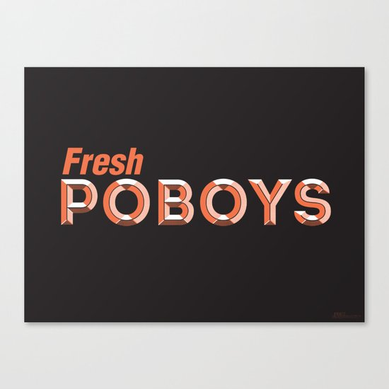 Fresh Poboys Canvas Print