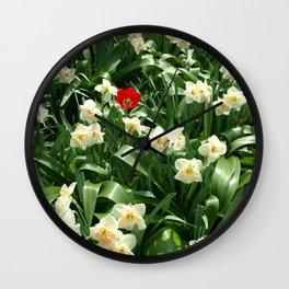 Be a Tulip Wall Clock