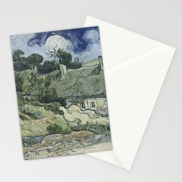 Vincent van Gogh - Thatched Cottages at Cordeville (1890) Stationery Cards