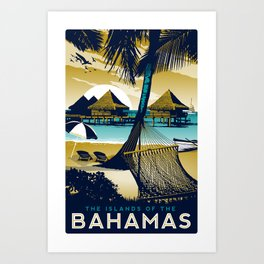 Bahamas Retro Vintage Style print Art Print