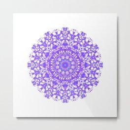 Mandala 12 / 5 eden spirit purple lilac white Metal Print