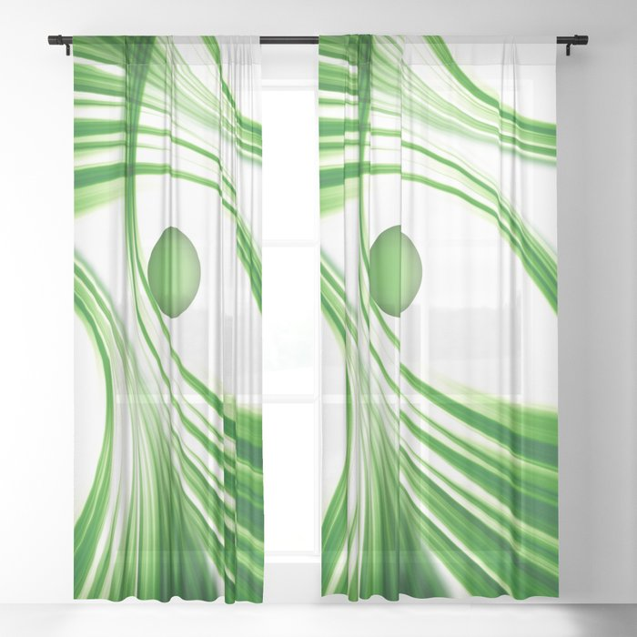 Green 113 Sheer Curtain