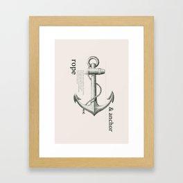 Anchor & Rope Framed Art Print