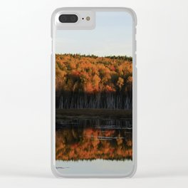 Autumn Sunset Reflection at the Moosehorn Clear iPhone Case