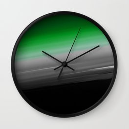 Green Gray Black Ombre Wall Clock
