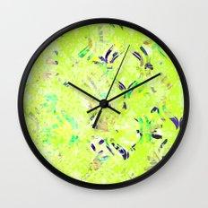 Vintage Wallpaper Wall Clock