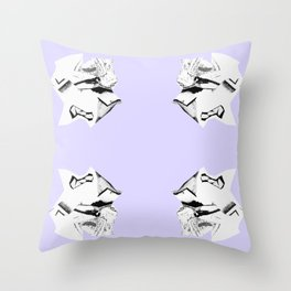 Purple Glitch Scrunch Quad Throw Pillow