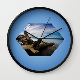 Exposition in Blue Wall Clock