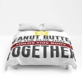 Love Peanut Butter Funny Foodie Design Comforters