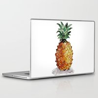 pineapple Laptop & iPad Skins featuring Pineapple by Bridget Davidson