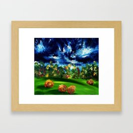 Rolling Along Framed Art Print