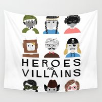 heroes Wall Tapestries featuring Heroes & Villains by Francesca Iannaccone