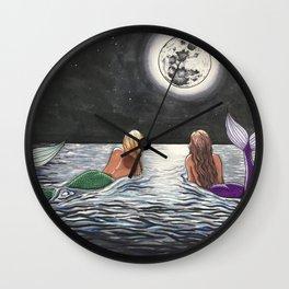 Mermaid Moon Wall Clock