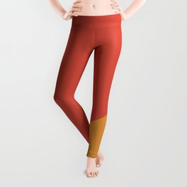 Warm Red & Orange - oblique Leggings