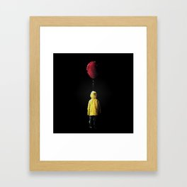 It Georgie Stained Glass Framed Art Print