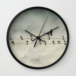 IN HIS USUAL RUDE FASHION, BOB ARRIVED LATE TO THE MEETING Wall Clock