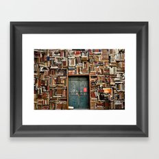 bookstore in Italy Framed Art Print