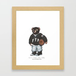 ftp bear Framed Art Print