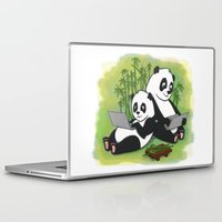 pandas Laptop & iPad Skins featuring Pandas by Lisidza's art