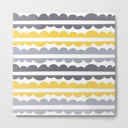 Mordidas Primrose Yellow Metal Print