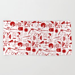 Buffy Symbology, Red Beach Towel