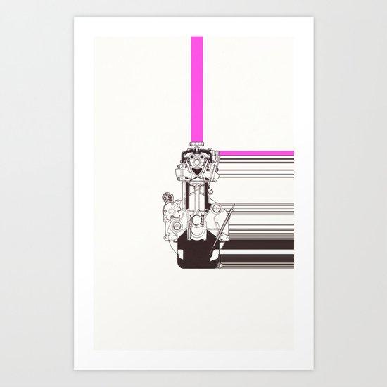 Smiling Machine Art Print