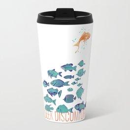 Seek Discomfort Fish Travel Mug