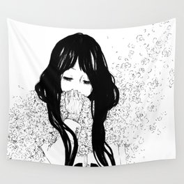 Flower Scarf Wall Tapestry