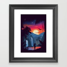 Cascades Framed Art Print