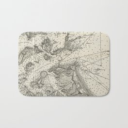 Vintage Map of Boston Harbor (1903) Bath Mat