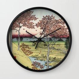 Hiroshige - 36 Views of Mount Fuji (1858) - 10: Twilight Hill at Meguro in the Eastern Capital Wall Clock