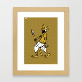 The Happy Indian Framed Art Print