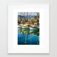 boats Framed Art Prints featuring Boats by Chee Sim
