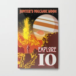 Io - Jupiter's Volcanic Moon Metal Print