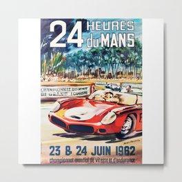 Le Mans 1962 vintage poster, Le Mans t-shirt, Le Mans poster Metal Print