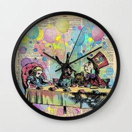 Tea Party Celebration - Alice In Wonderland Wall Clock