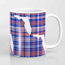 Florida university gators orange and blue college sports football plaid pattern Coffee Mug