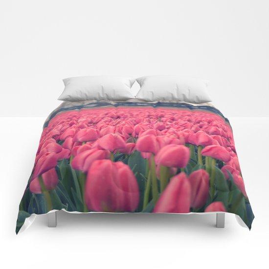 Tulips Field #5 Comforters