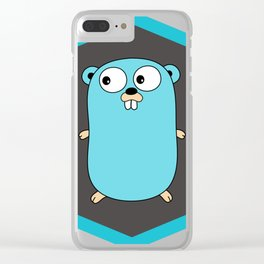 Golang Go cute Squirrel baby programming Mouse sticker Clear iPhone Case