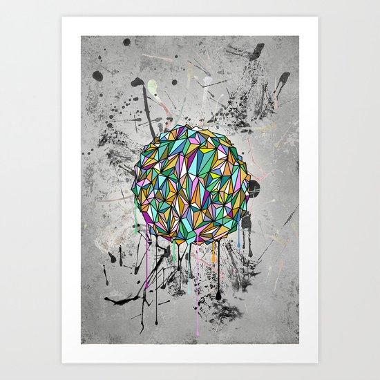 Drippy World Art Print